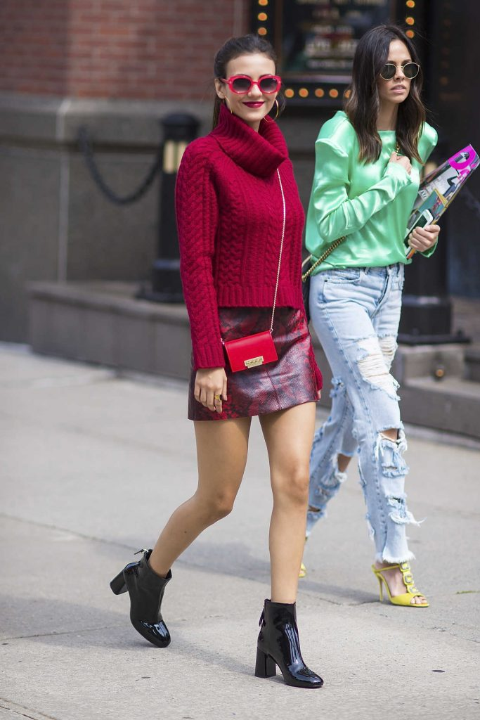 Victoria Justice Walks Out in New York City 09/12/2017-3