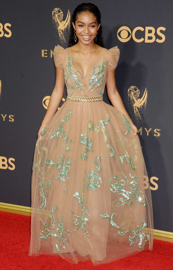 Yara Shahidi at the 69th Annual Primetime Emmy Awards in Los Angeles 09/17/2017-1