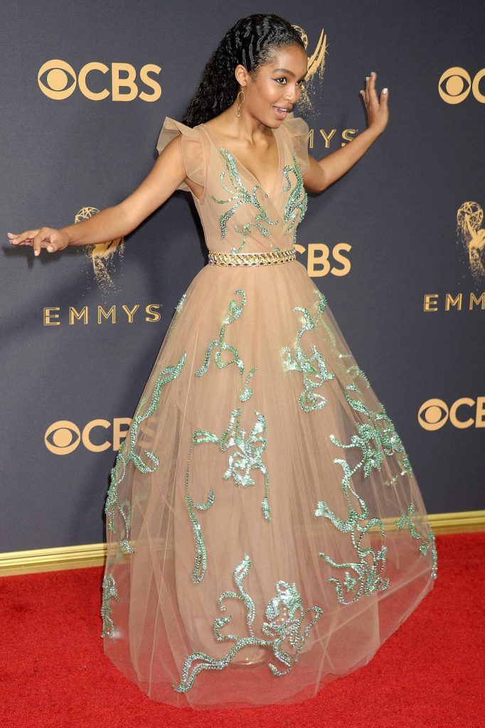 Yara Shahidi at the 69th Annual Primetime Emmy Awards in Los Angeles 09/17/2017-2