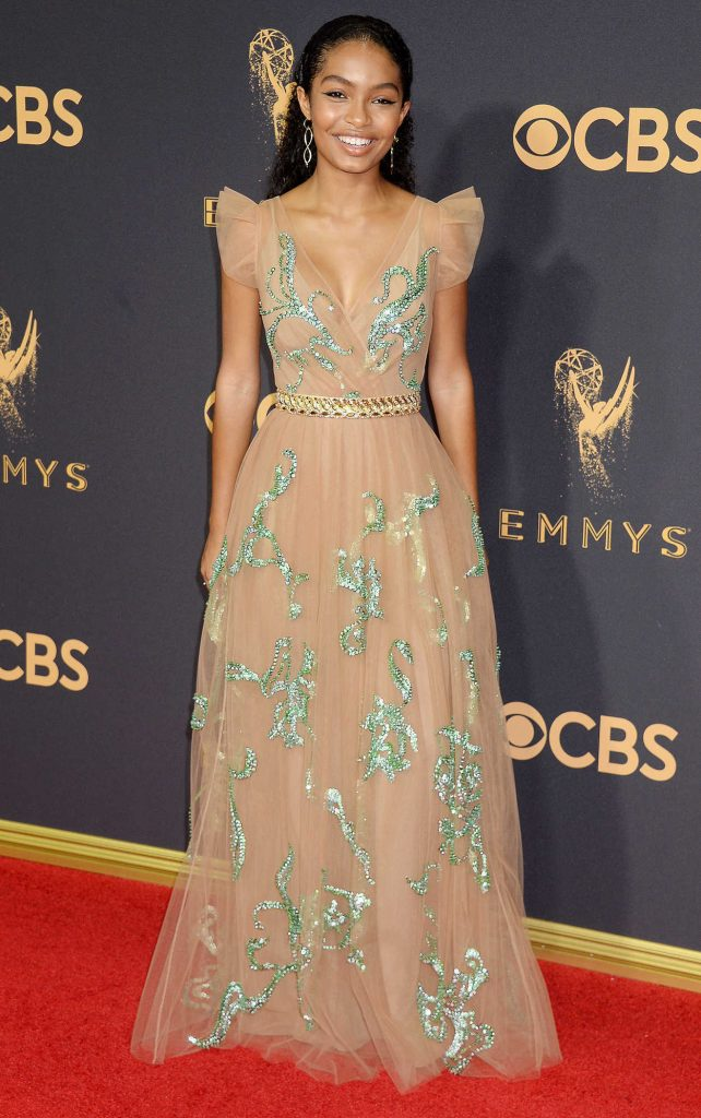 Yara Shahidi at the 69th Annual Primetime Emmy Awards in Los Angeles 09/17/2017-4