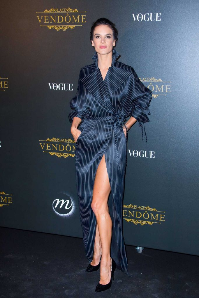 Alessandra Ambrosio at the Vogue Party During Paris Fashion Week 10/01/2017-1