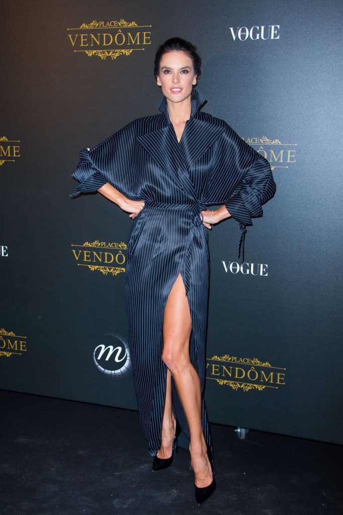 Alessandra Ambrosio at the Vogue Party During Paris Fashion Week 10/01/2017-2