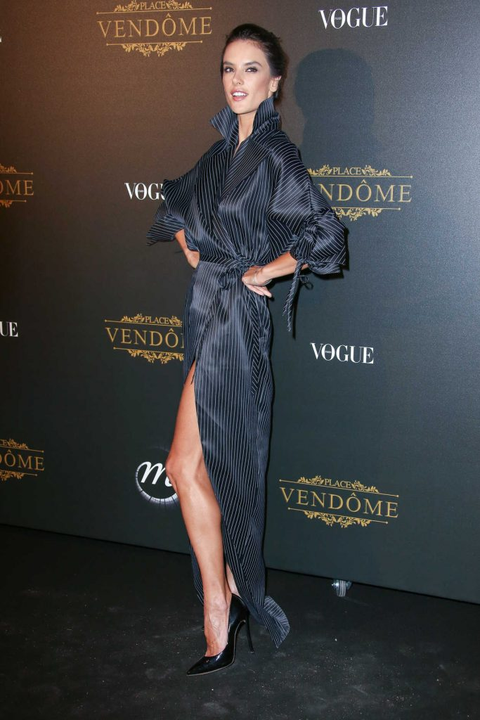 Alessandra Ambrosio at the Vogue Party During Paris Fashion Week 10/01/2017-3