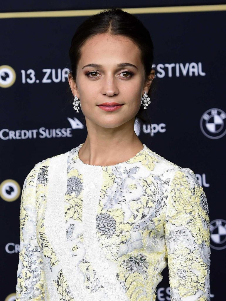 Alicia Vikander Attends the Euphoria Premiere During the 13th Zurich Film Festival 09/29/2017-5