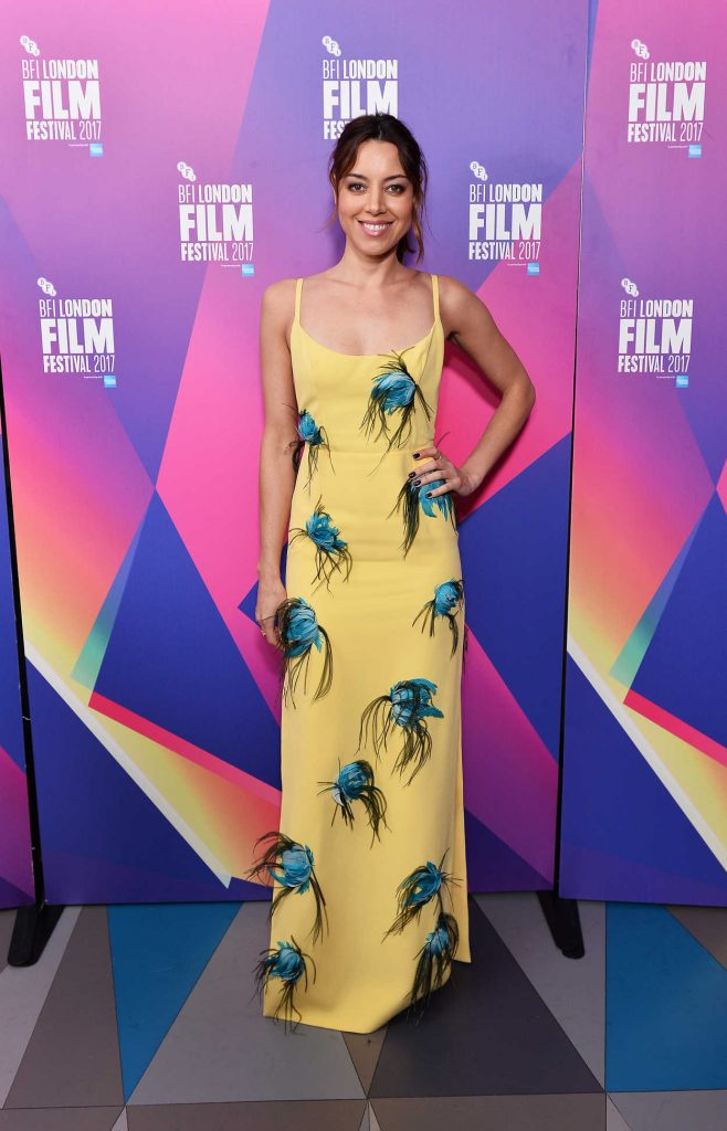 Aubrey Plaza at Ingrid Goes West Screening During the 61st BFI London Film Festival 10/07/2017-1