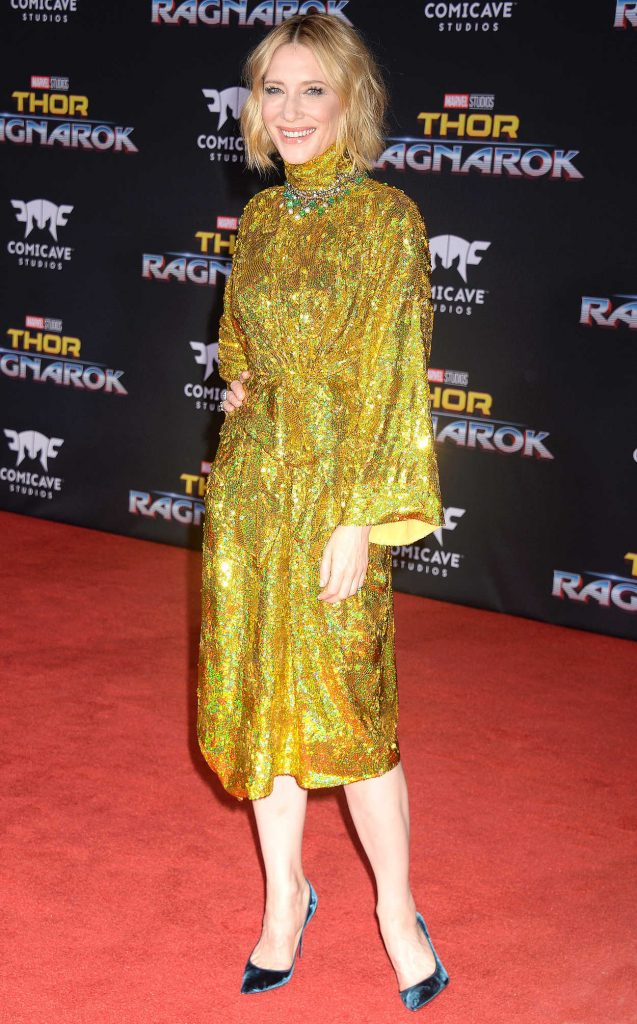 Cate Blanchett at the Thor: Ragnarok Premiere in Los Angeles 10/10/2017-2