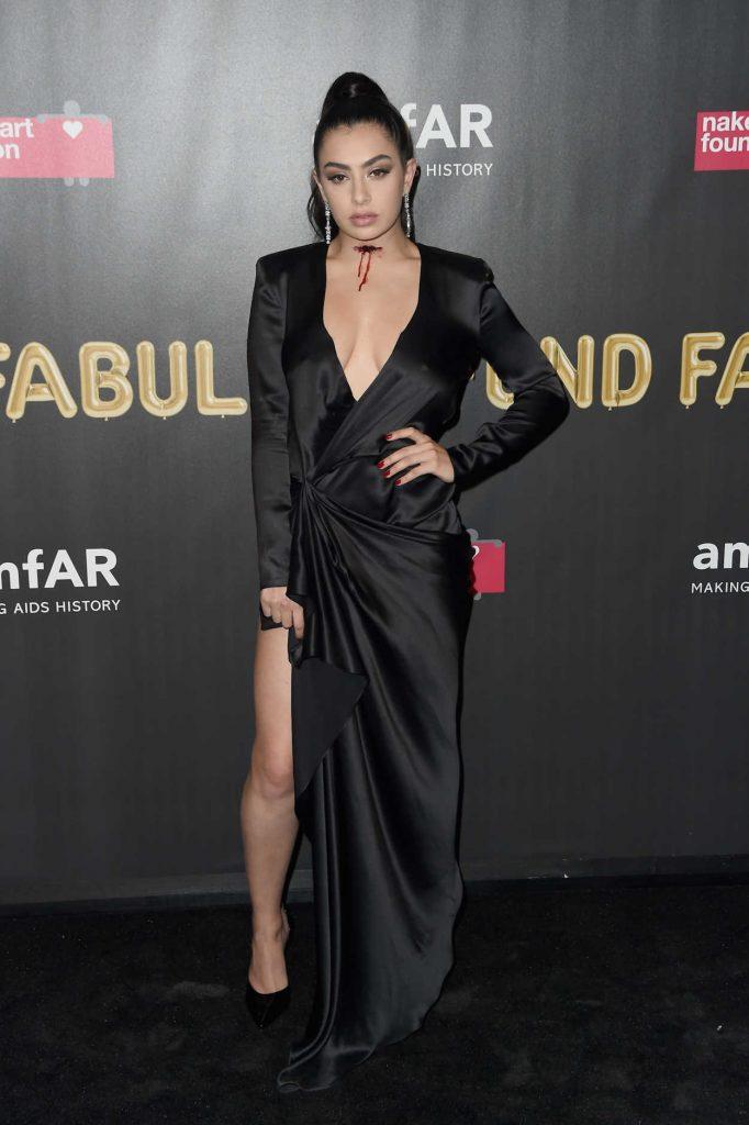 Charli XCX at 2017 amfAR Fabulous Fund Fair in NYC 10/28/2017-1