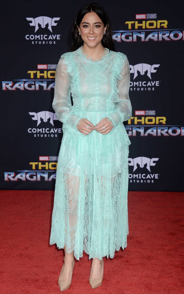Chloe Bennet at the Thor: Ragnarok Premiere in Los Angeles 10/10/2017-1