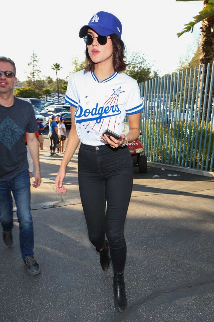 Eiza Gonzalez Arrives at Los Angeles Dodgers vs Houston Astros World Series Game 1 in Los Angeles 10/24/2017-1
