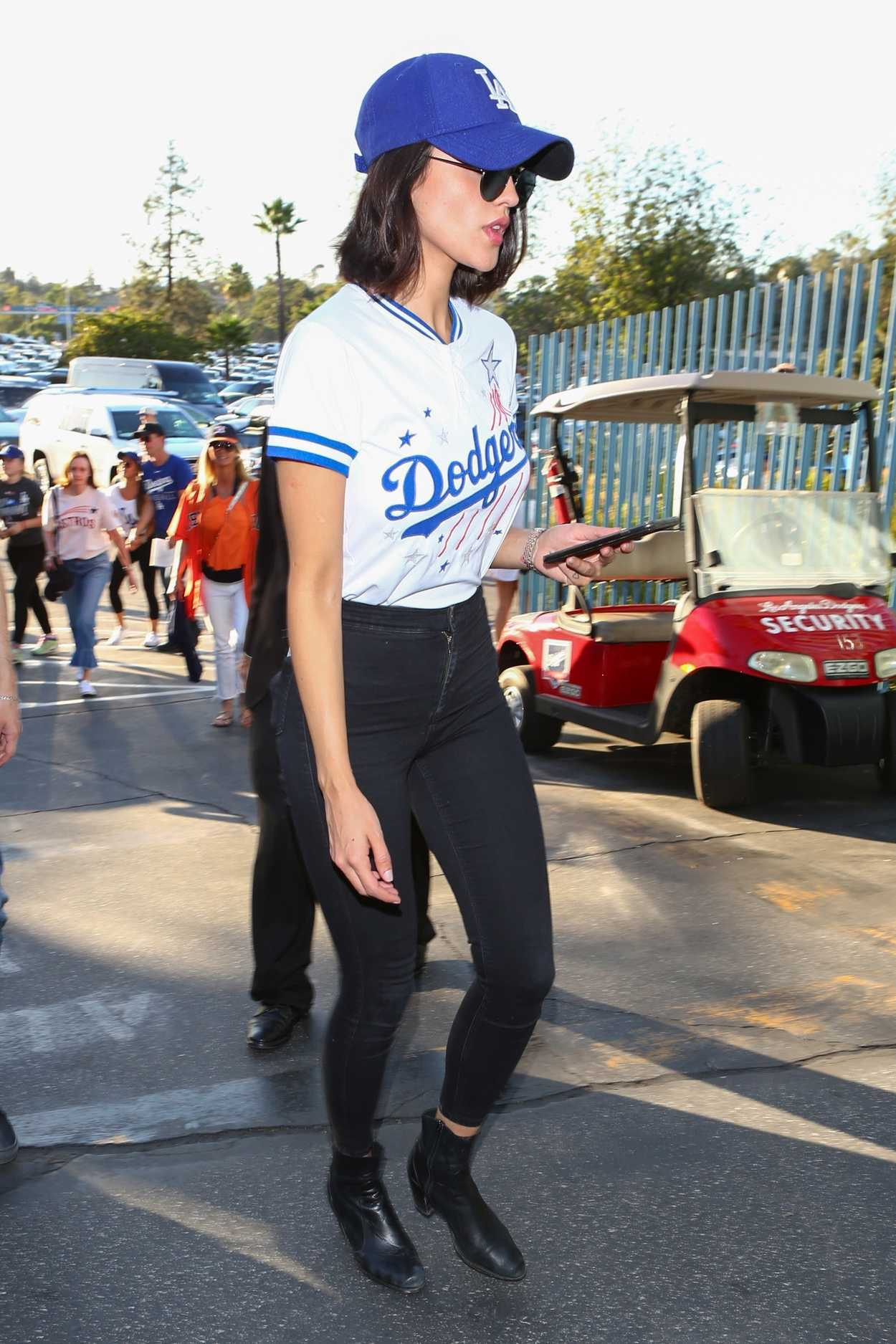 Eiza Gonzalez Arrives at Los Angeles Dodgers vs Houston Astros World Series Game 1 in Los ...