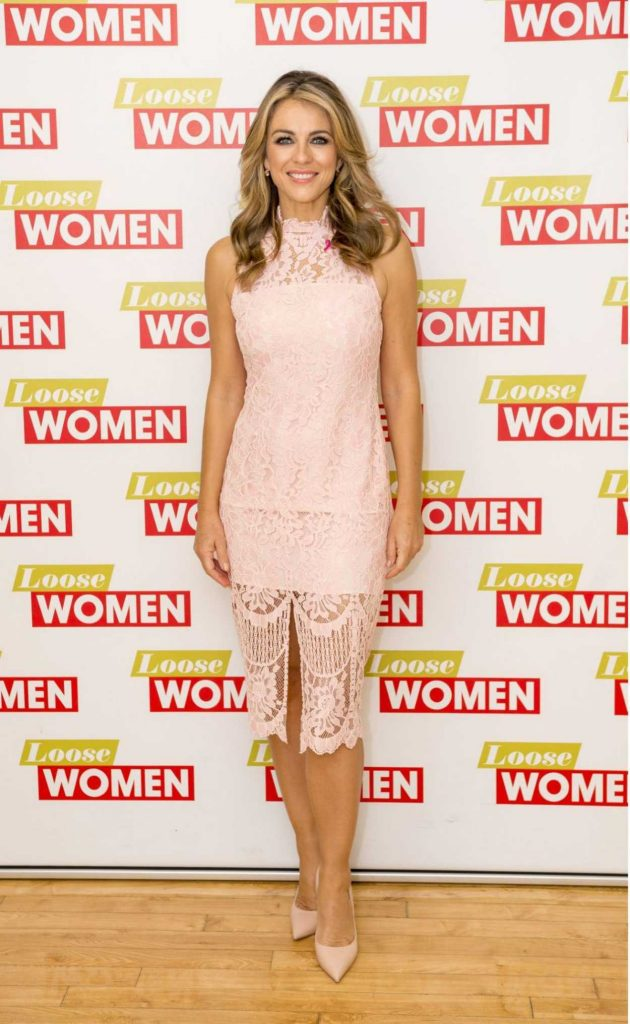 Elizabeth Hurley at Loose Women TV Show in London 10/10/2017-1