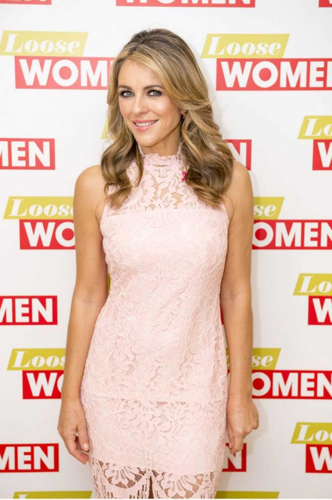 Elizabeth Hurley at Loose Women TV Show in London 10/10/2017-2