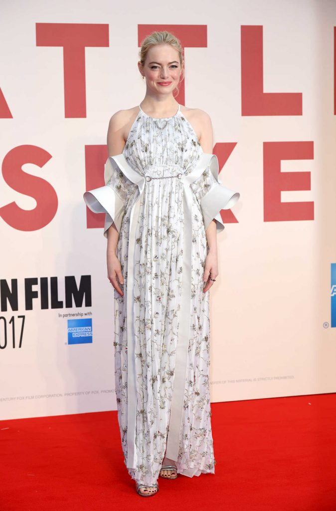 Emma Stone at the Battle of the Sexes Premiere During the 61st BFI London Film Festival 10/07/2017-1