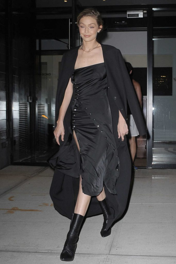 Gigi Hadid Wears All Black Out in NYC 10/30/2017-2