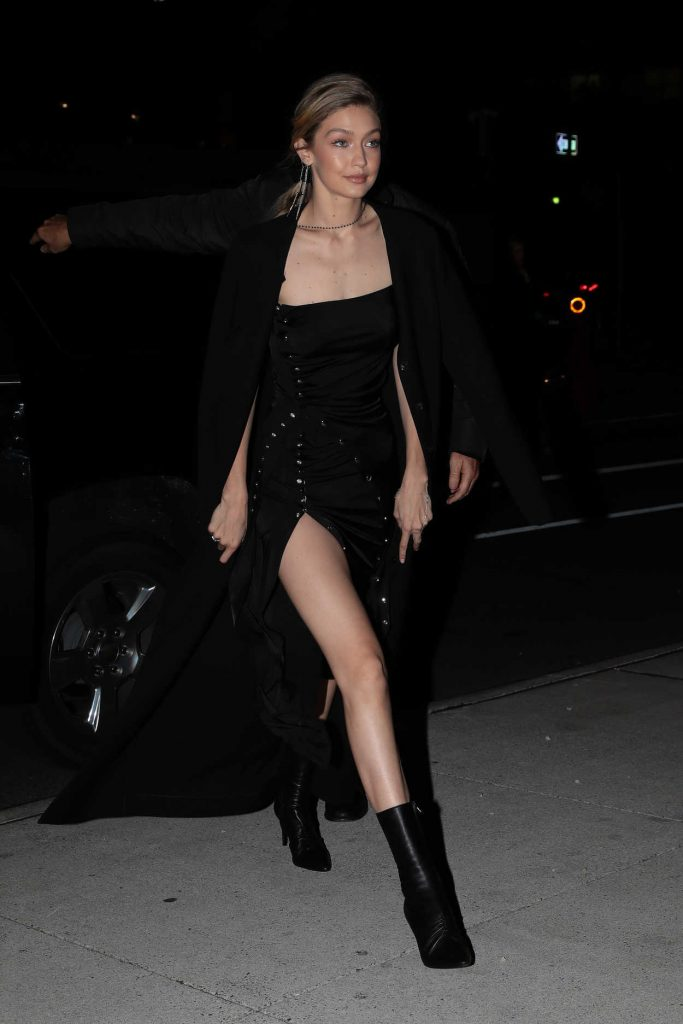 Gigi Hadid Wears All Black Out in NYC 10/30/2017-4