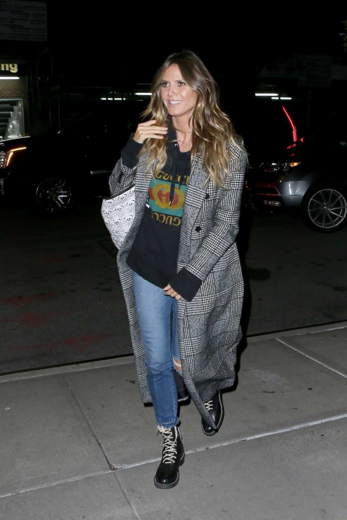 Heidi Klum Returns to Her Hotel in NYC 10/30/2017-4