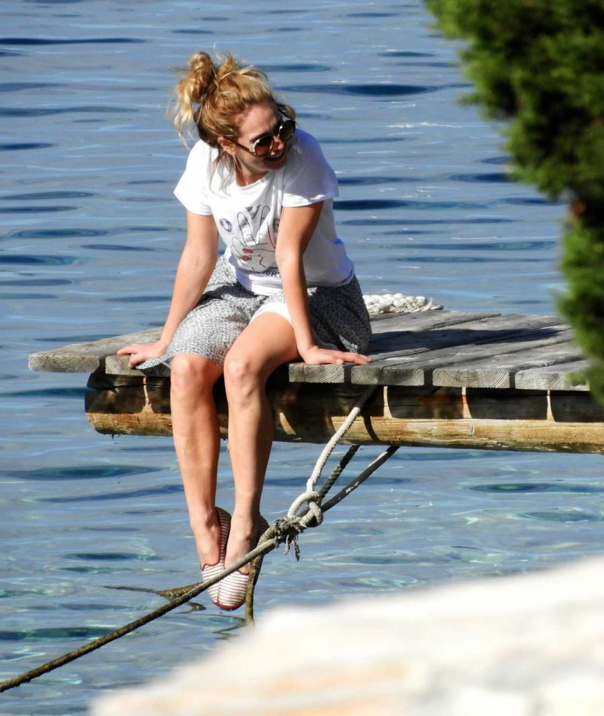 Lily James Was Seen on the Island Vis in Croatia 10/08/2017-3