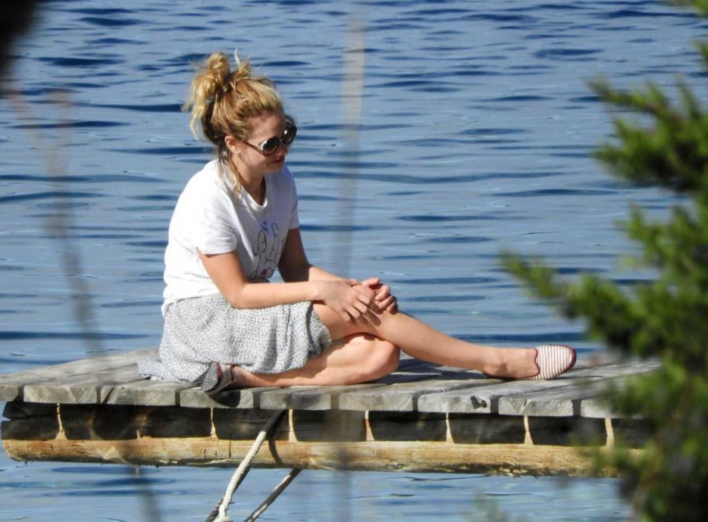 Lily James Was Seen on the Island Vis in Croatia 10/08/2017-4