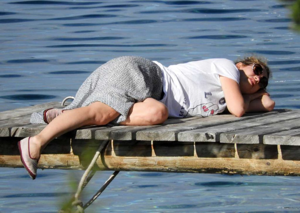 Lily James Was Seen on the Island Vis in Croatia 10/08/2017-5