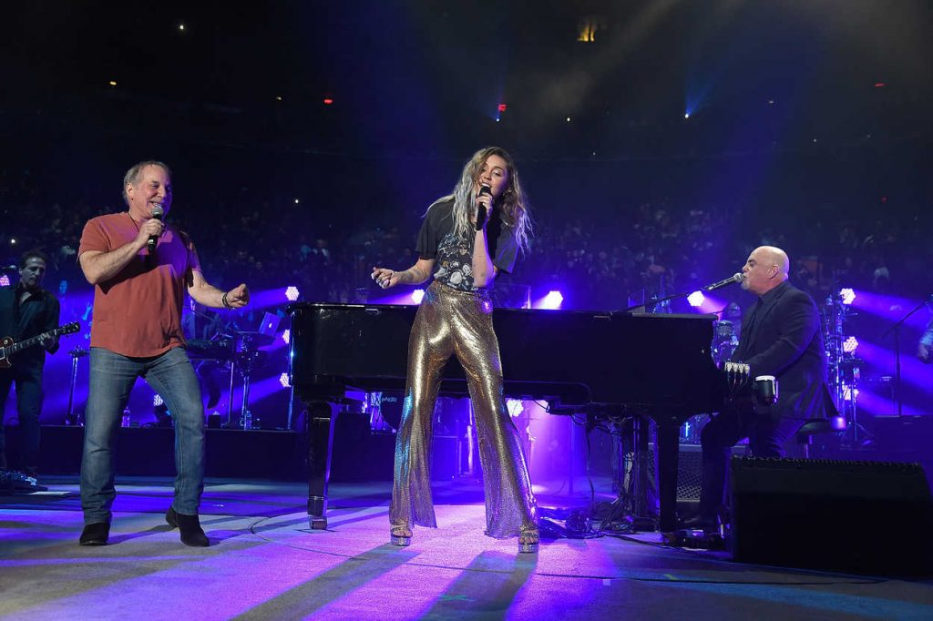 Miley Cyrus at Billy Joel Performs at Madison Square Garden in New York 09/30/2017-4