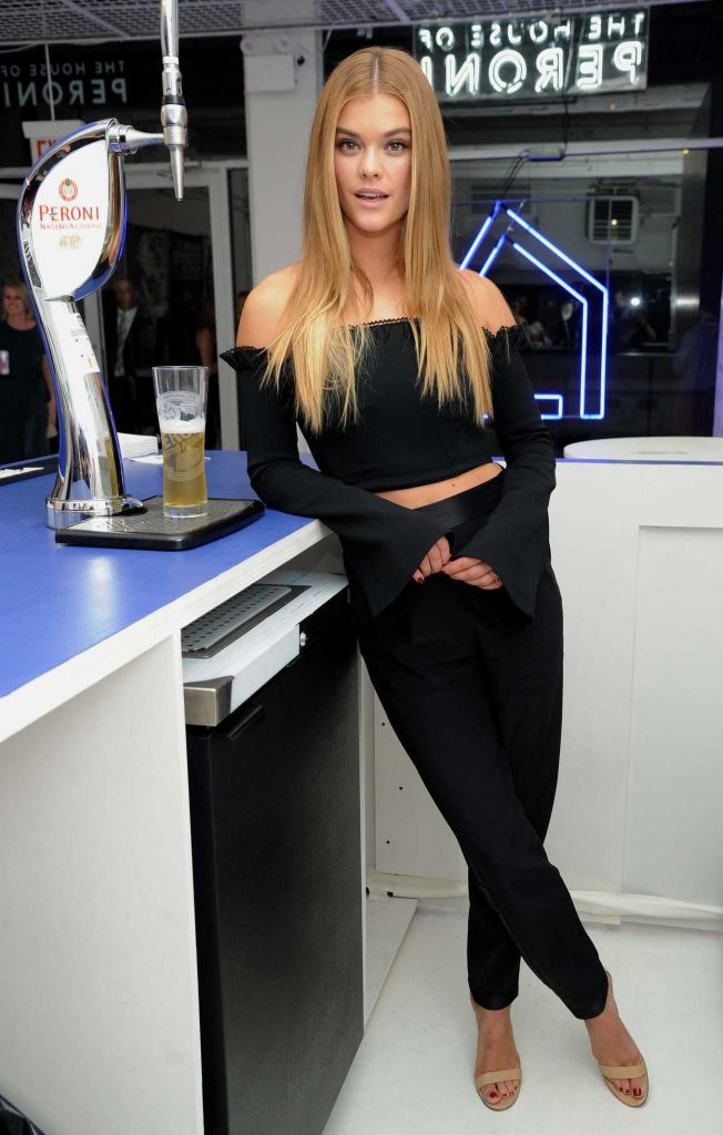 Nina Agdal Attends The House of Peroni in NYC 10/05/2017-1