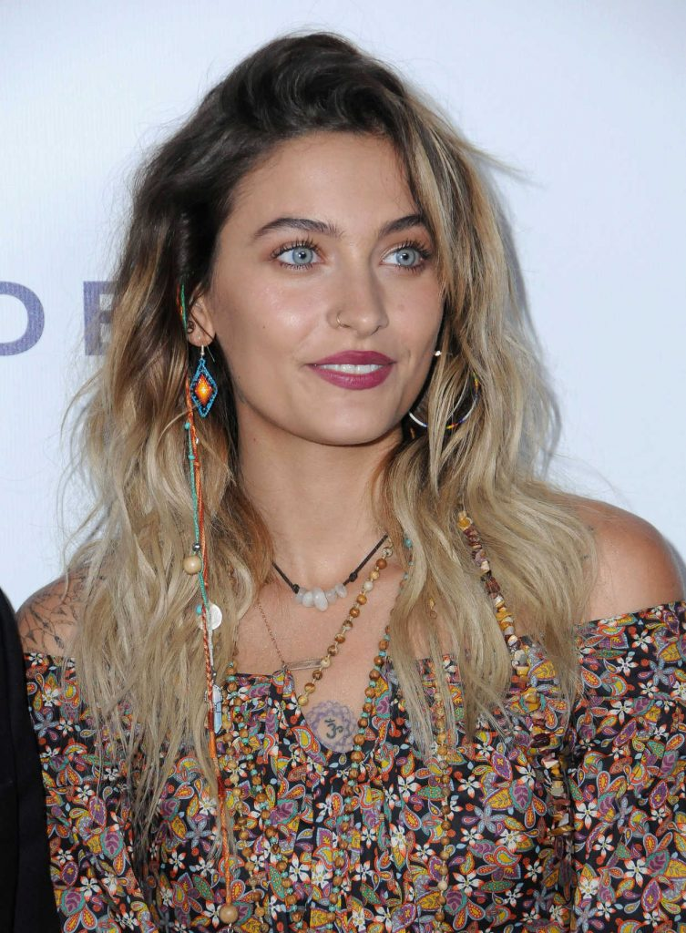 Paris Jackson Attends the Elizabeth Taylor AIDS Foundation Benefit Dinner in Beverly Hills 10/24/2017-5