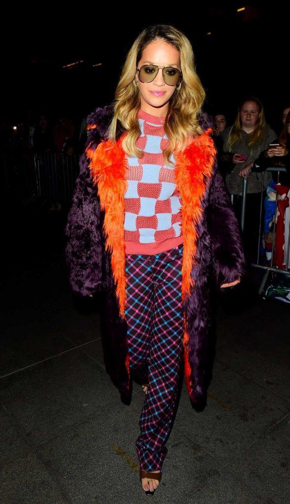 Rita Ora Arrives at BBC Radio One in London 10/20/2017-1