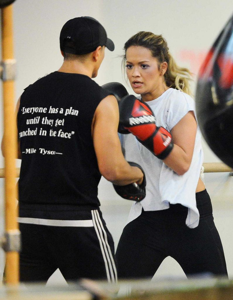 Rita Ora Shows off Her Boxing Skills at Gotham Gym in NYC 10/08/2017-3