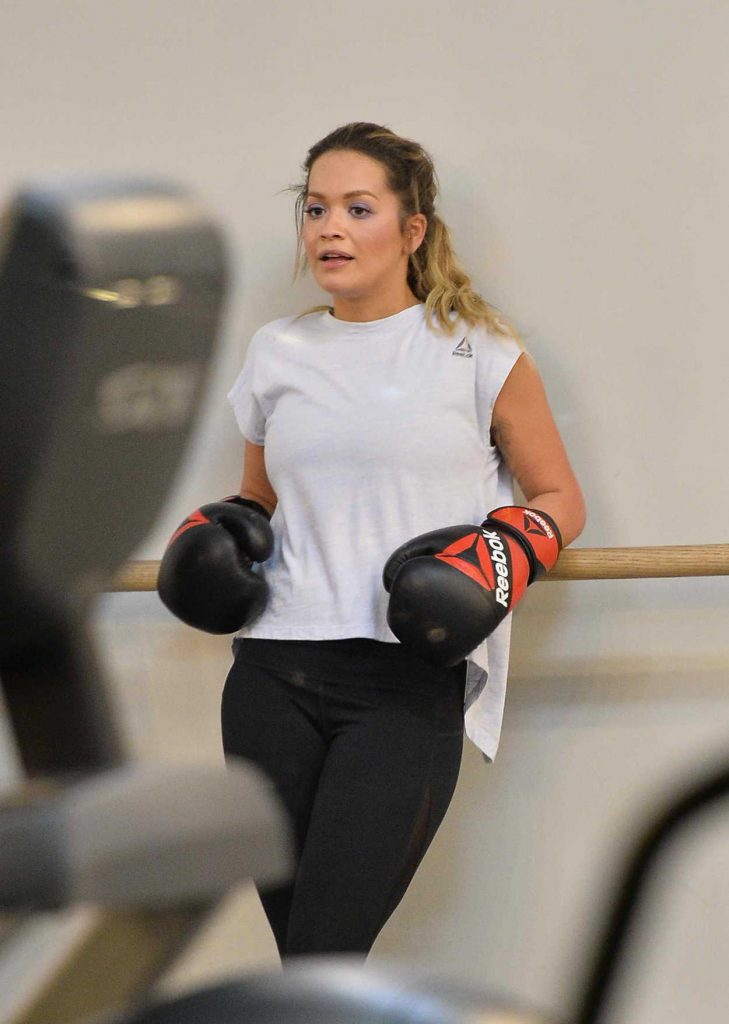 Rita Ora Shows off Her Boxing Skills at Gotham Gym in NYC 10/08/2017-5