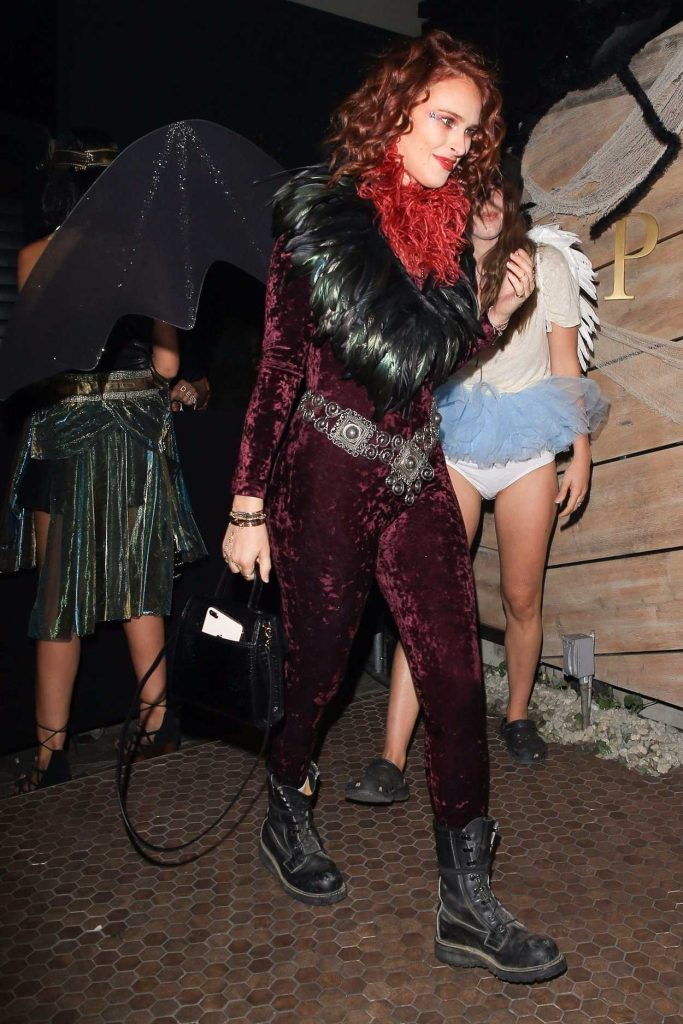 Rumer Willis Arrives at the Matthew Morrison's 8th Annual Halloween Party in West Hollywood 10/28/2017-2