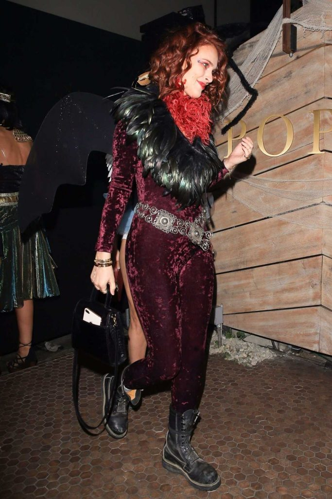 Rumer Willis Arrives at the Matthew Morrison's 8th Annual Halloween Party in West Hollywood 10/28/2017-3