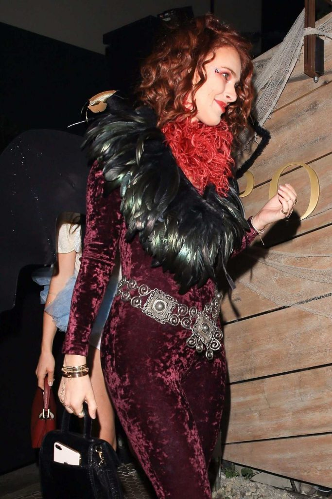 Rumer Willis Arrives at the Matthew Morrison's 8th Annual Halloween Party in West Hollywood 10/28/2017-4