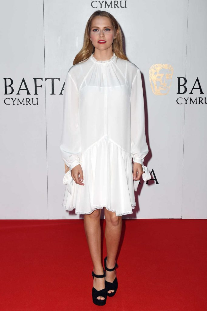 Teresa Palmer at British Academy Cymru Awards at St David's Hall in Cardiff 10/08/2017-1