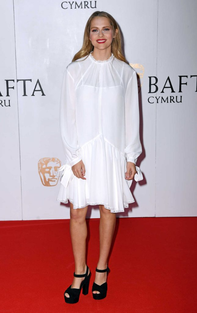 Teresa Palmer at British Academy Cymru Awards at St David's Hall in Cardiff 10/08/2017-2