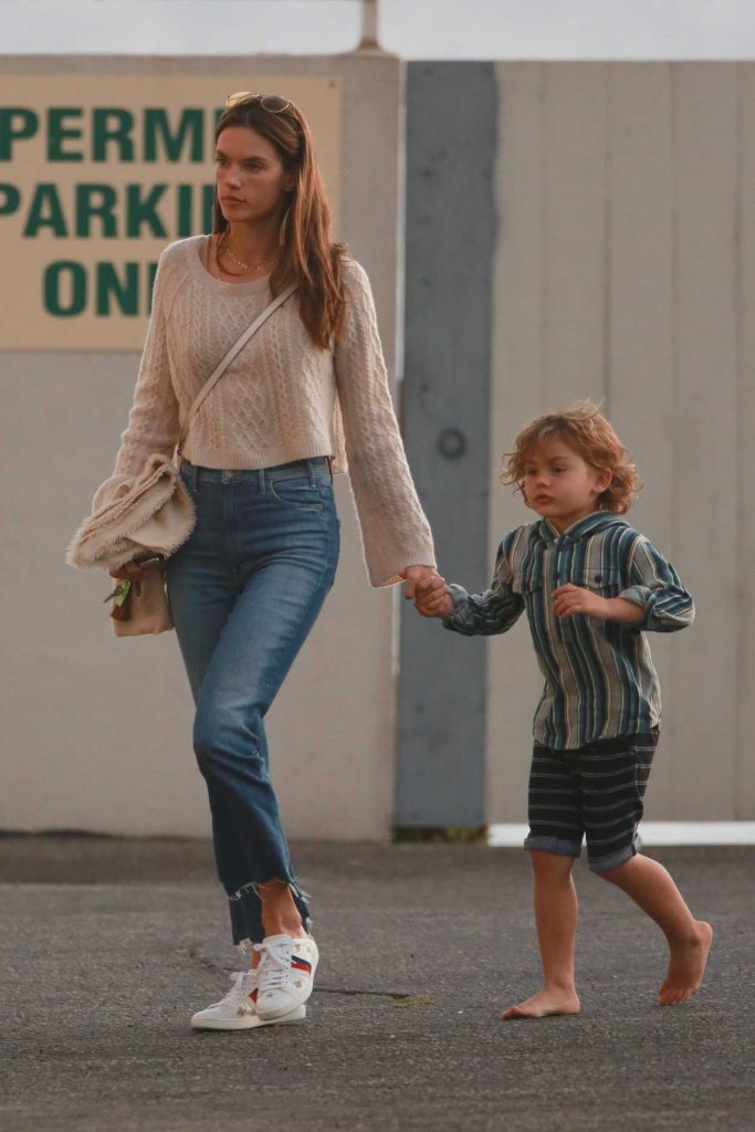 Alessandra Ambrosio Visits a Friend With Her Son Noah in Malibu 11/26/2017-4