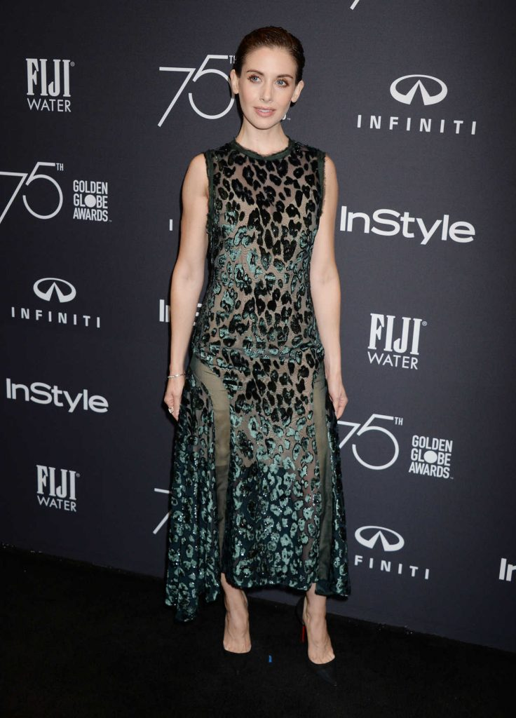 Alison Brie at the HFPA and InStyle Celebrate the 75th Anniversary of The Golden Globe Awards at Catch LA 11/15/2017-1