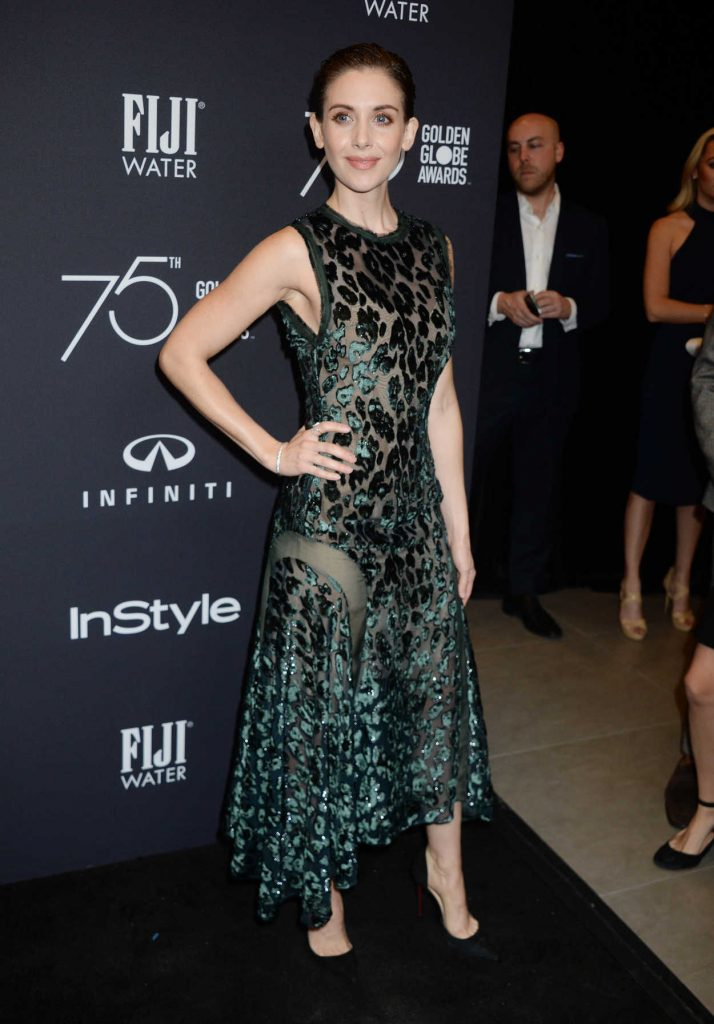 Alison Brie at the HFPA and InStyle Celebrate the 75th Anniversary of The Golden Globe Awards at Catch LA 11/15/2017-3