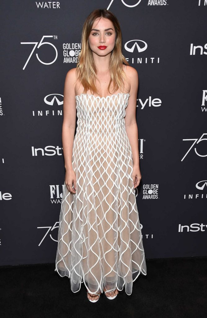 Ana de Armas at the HFPA and InStyle Celebrate the 75th Anniversary of The Golden Globe Awards at Catch LA 11/15/2017-2