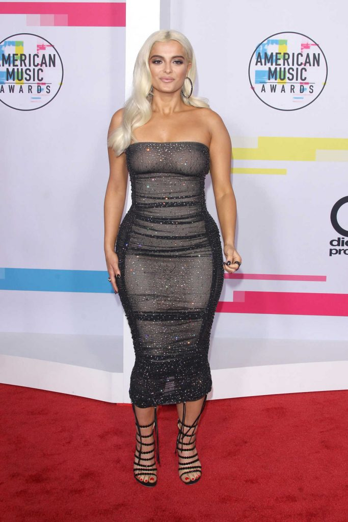 Bebe Rexha at 2017 American Music Awards at the Microsoft Theater in Los Angeles 11/19/2017-1