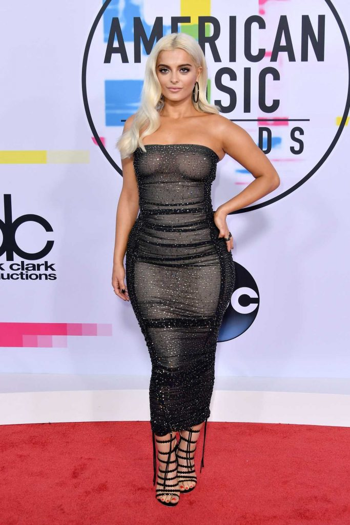 Bebe Rexha at 2017 American Music Awards at the Microsoft Theater in Los Angeles 11/19/2017-2