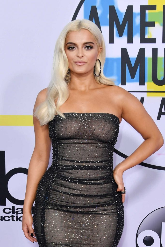 Bebe Rexha at 2017 American Music Awards at the Microsoft Theater in Los Angeles 11/19/2017-3