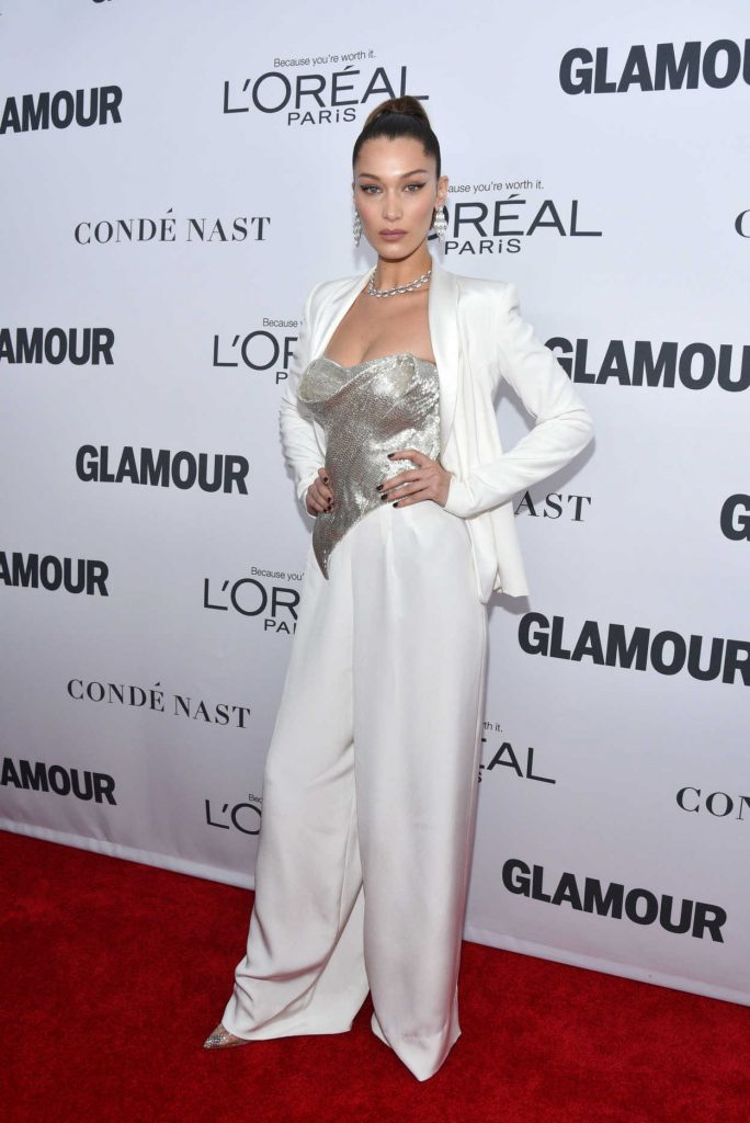 Bella Hadid at 2017 Glamour Women of the Year Awards in NYC 11/13/2017-1