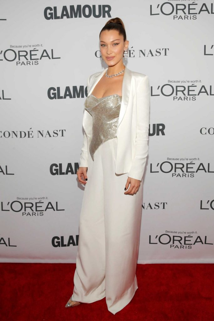 Bella Hadid at 2017 Glamour Women of the Year Awards in NYC 11/13/2017-3