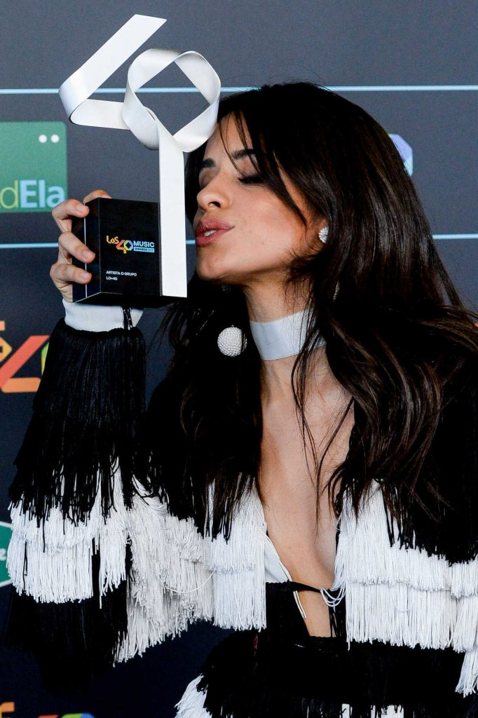 Camila Cabello at Los 40 Music Awards at WiZink Center in Madrid 11/10/2017-4