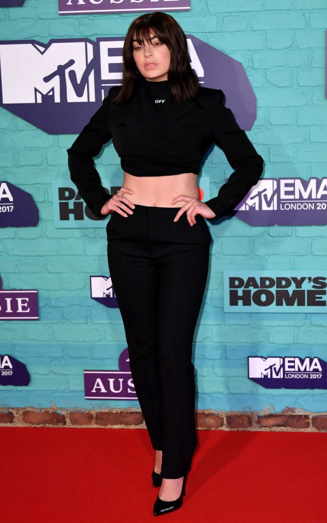 Charli XCX at the 24th MTV Europe Music Awards in London 11/12/2017-2