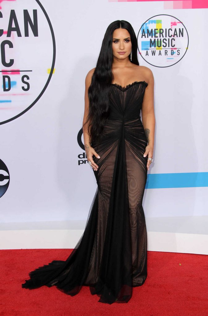 Demi Lovato at 2017 American Music Awards at the Microsoft Theater in Los Angeles 11/19/2017-1