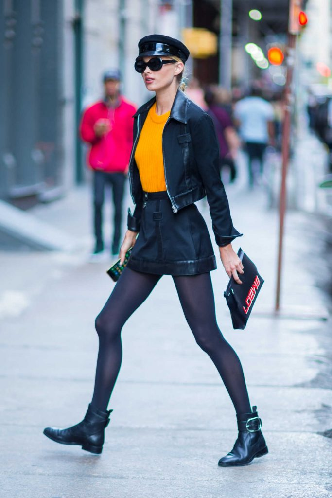 Elsa Hosk Was Seen Out in NYC 10/31/2017-4