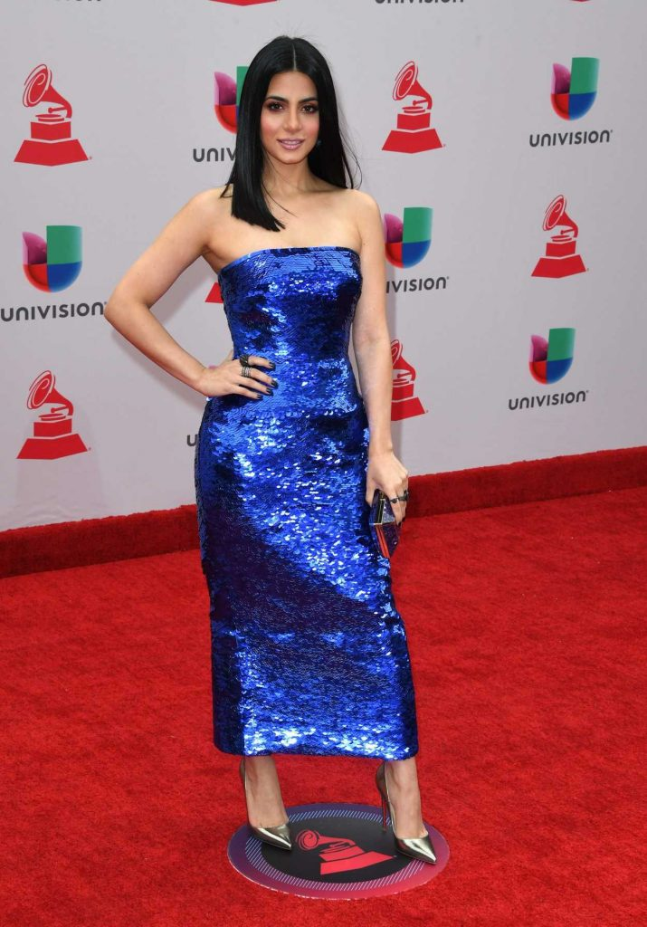 Emeraude Toubia at the 18th Annual Latin Grammy Awards in Las Vegas 11/16/2017-1