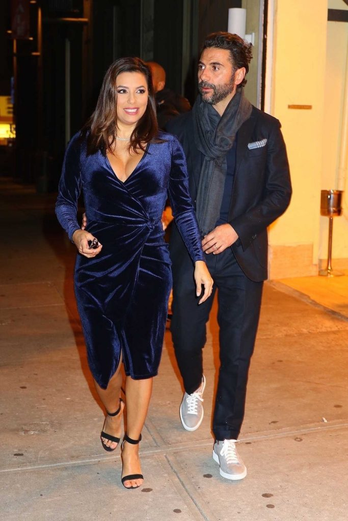 Eva Longoria Arrives at Cipriani Restaurant in New York 11/21/2017-1