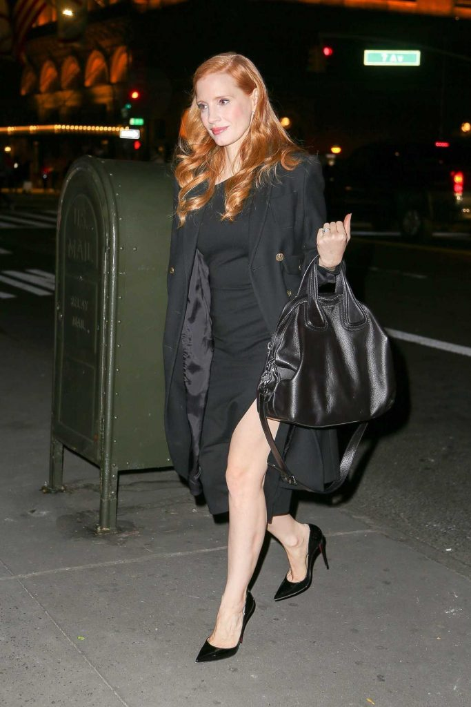 Jessica Chastain Leaves The Tonight Show Starring Jimmy Fallon in New York City 11/17/2017-1